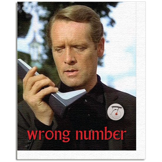 The Prisoner The Prisoner Wrong Number Canvas Art Print