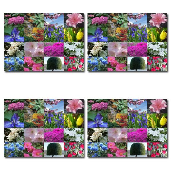 Portmeirion Set of 4 Portmeirion Village Garden Views Placemats
