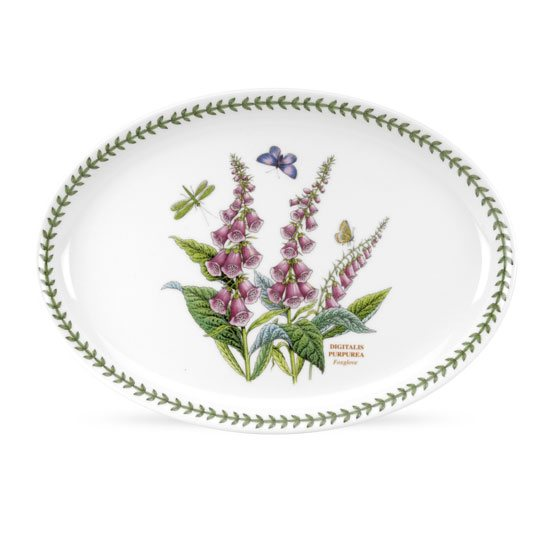 Portmeirion Botanic Garden 13 inch Fire & Ice Oval Steak Platter