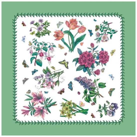 Portmeirion Botanic Garden Chintz Cotton Napkins Set Of 4