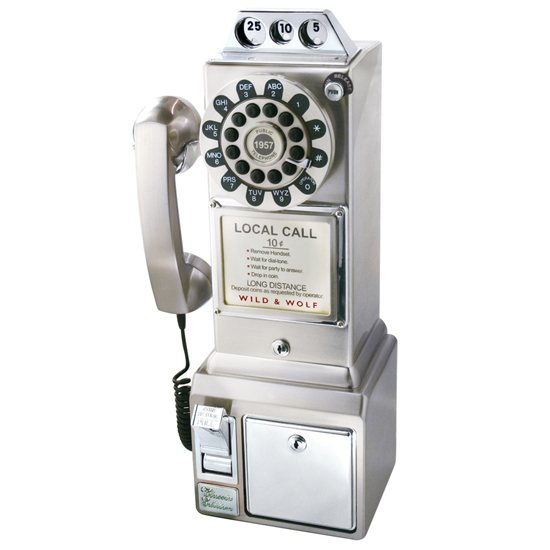 Wild & Wolf 1950's Diner Phone - Chrome