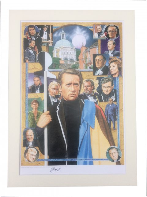 The Prisoner Signed Original Prisoner Print By John Marriott
