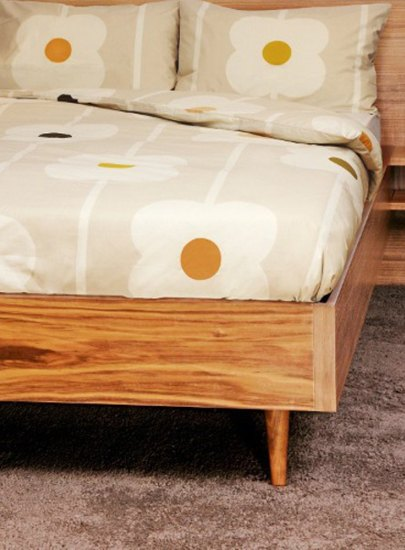 Orla Kiely Orla Kiely Sand Cotton Giant Abacus Single Duvet Cover