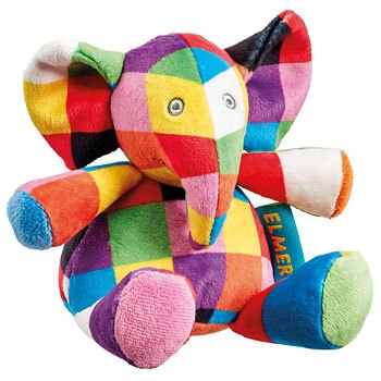 Elmer Elmer Rattle Plush Soft Toy