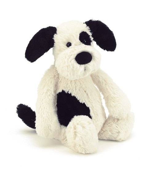 Jellycat Soft Toys Jellycat Bashful Black & Cream Puppy