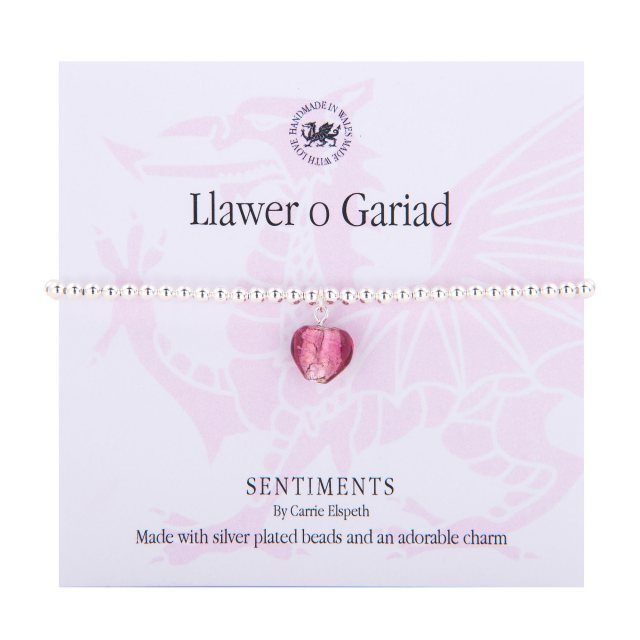 Carrie Elspeth Carrie Elspeth LLawer O Gariad Sentiment Bracelet