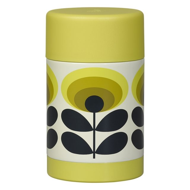 Orla Kiely Orla Kiely 70s Flower Oval Food Flask Yellow
