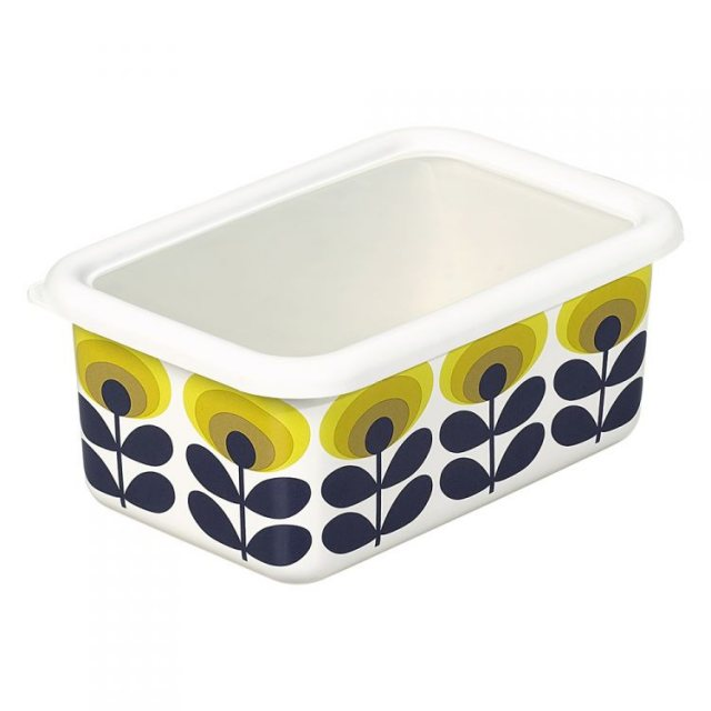 Orla Kiely Orla Kiely 70's Oval Flower Yellow Medium Storage