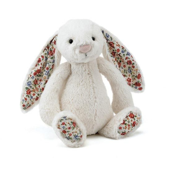 Jellycat Soft Toys Jellycat Bashful Cream Blossom Bunny Soft Toy