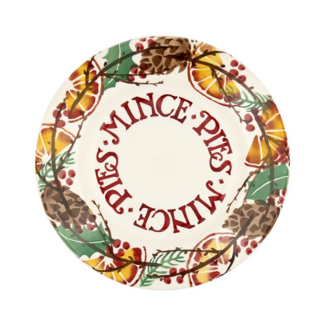 Emma Bridgewater Emma Bridgewater Holly Wreath Mince Pie 8.5' Plate