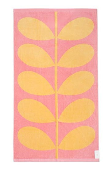 Orla Kiely Orla Kiely Beach Towel - Sunlight & Bubblegum Stem