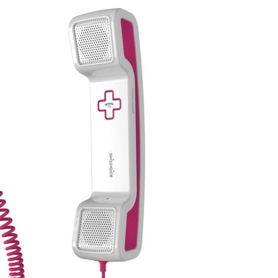 Swissvoice ePure Corded Mobile Handset - Pink & Wh