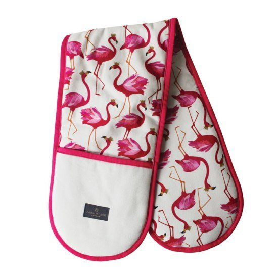 Sara Miller London Sara Miller Double Oven Glove Flamingo