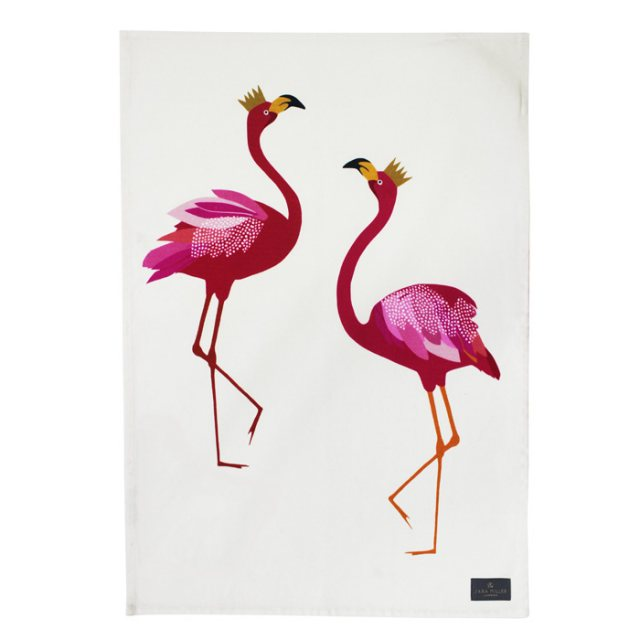 Sara Miller London Sara Miller Tea Towel Flamingo
