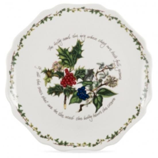 "Portmeirion The Holly & The Ivy 11"" Scalloped Platter"