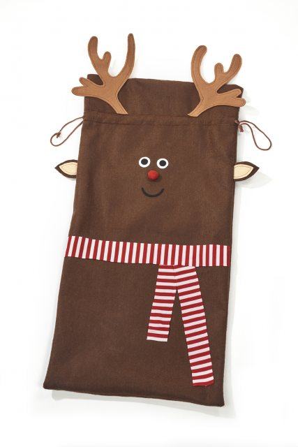 Rudolph Christmas Sack With Scarf