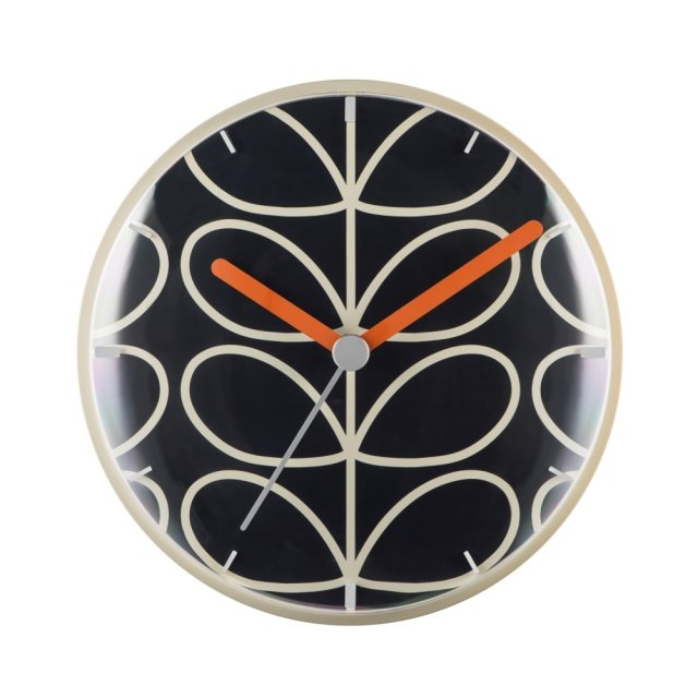 Orla Kiely Orla Kiely Linear Stem Wall Clock Dark Grey