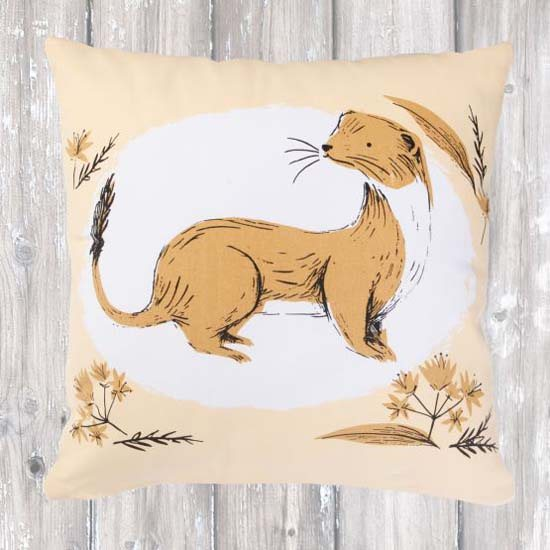 Fauna Cushion - Stoat