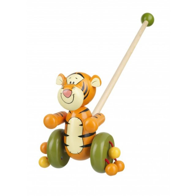 Orange Tree Tigger Wooden Push Along