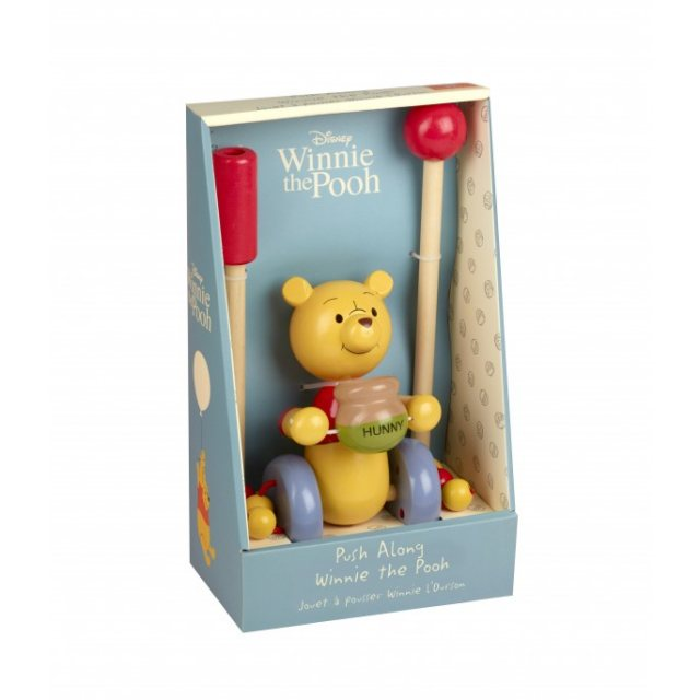 Orange Tree Winnie The Pooh Wooden Push Along Boxed