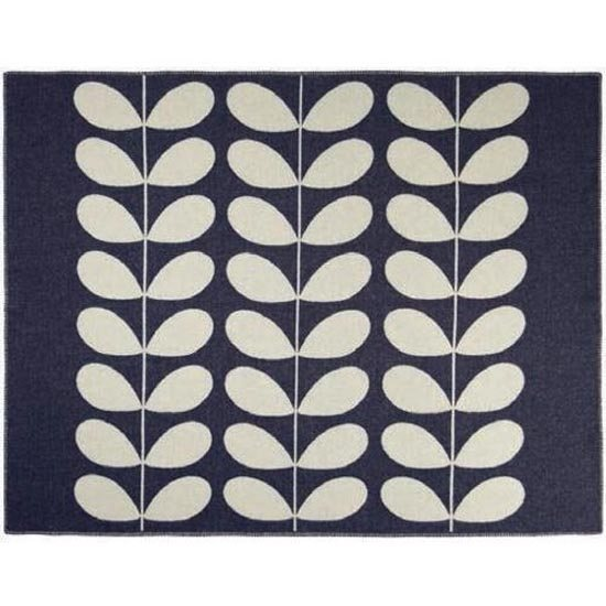 Orla Kiely Orla Kiely Navy Giant Stem Reversible Throw
