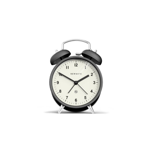 Newgate The Charlie Bell Alarm Clock - Matte Black