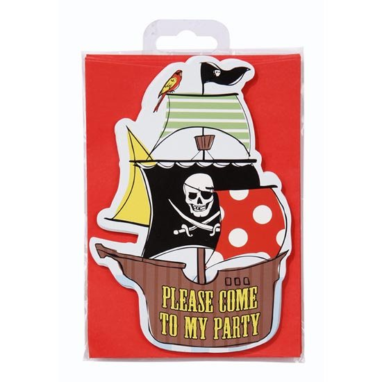 Pirate Party Postcard Invitations