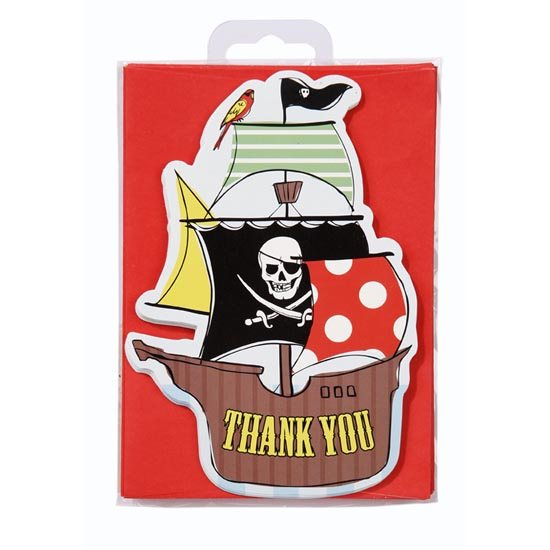 Pirate Party Thank You Postcards