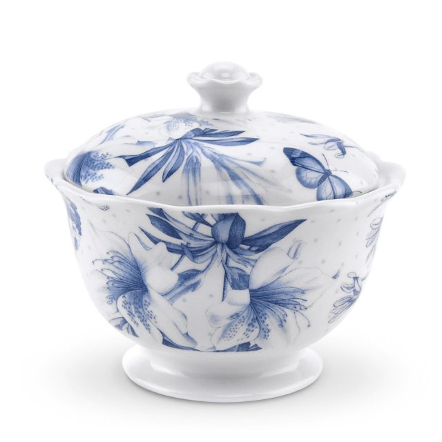 Portmeirion Botanic Blue Covered Sugar Bowl