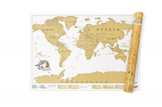 Luckies World Scratch Map Extra Large