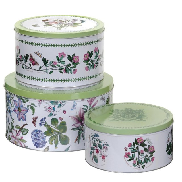 Portmeirion Pimpernel Botanic Garden Cake Tin Set of 3
