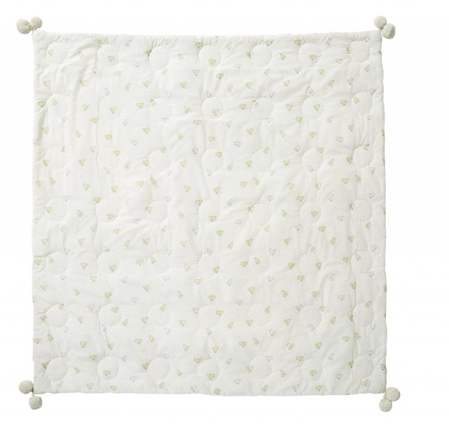 Petit Pehr Petit Pehr Baby Chick Quilted Pom Pom Blanket