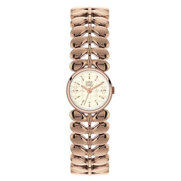 Orla Kiely Orla Kiely Laurel Rose Gold Plated Watch