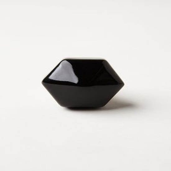 Drawer Knob Ceramic Black