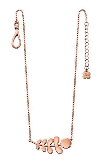 Orla Kiely Orla Kiely Buddy Rose Gold Stem Pattern Necklace