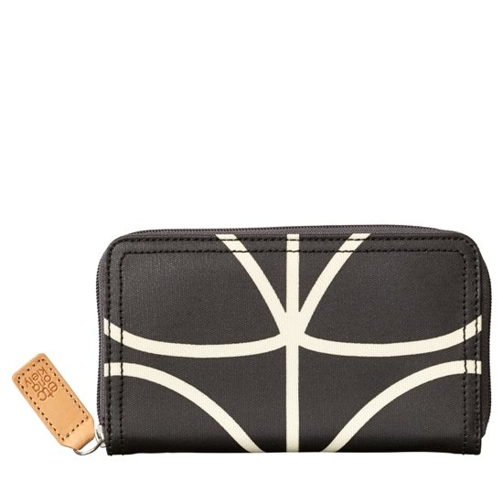 Orla Kiely Orla Kiely Giant Liquorice Linear Stem Big Zip Wallet