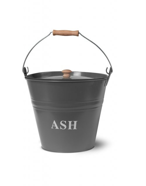 Garden Trading Steel Ash Bucket in Charcoal