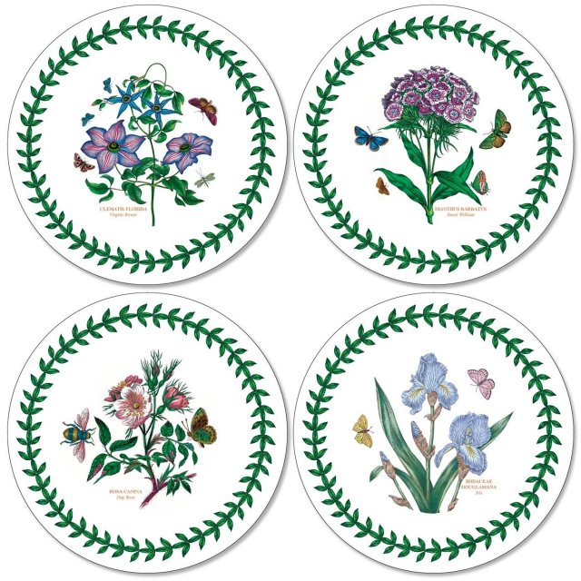 Portmeirion Botanic Garden Round Coasters Set of 4