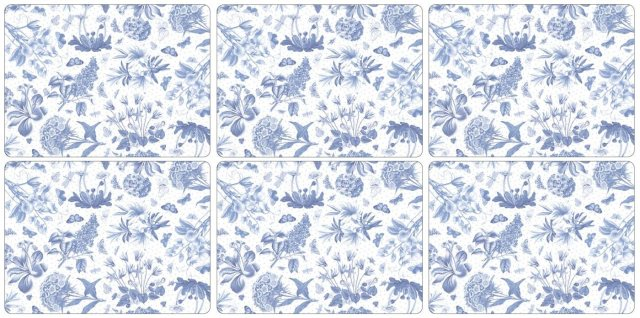 Portmeirion Pimpernel Botanic Blue Placemats Set of 6