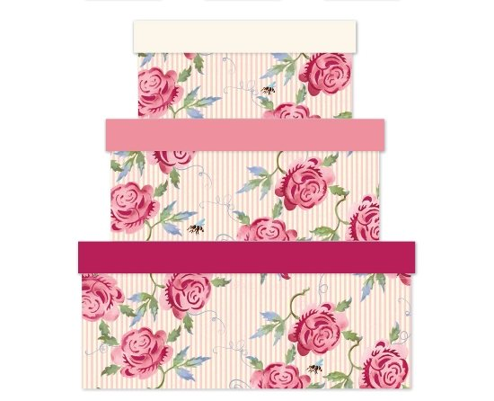 Emma Bridgewater Emma Bridgewater Rose & Bee Stripe Gift Box Large