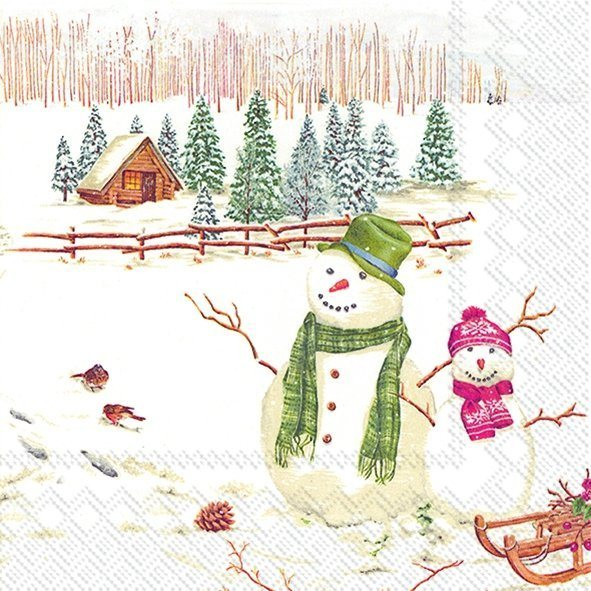 Winterly Countryside Lunch Napkins