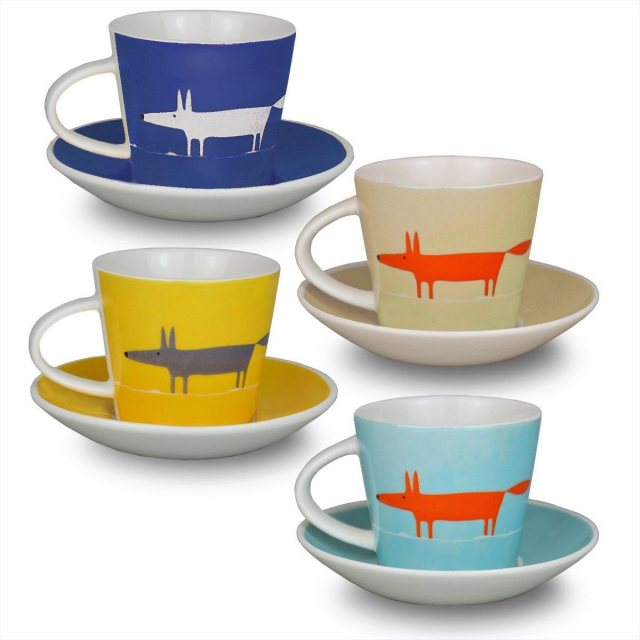 Scion Living Mr Fox Espresso Cups and Saucer set