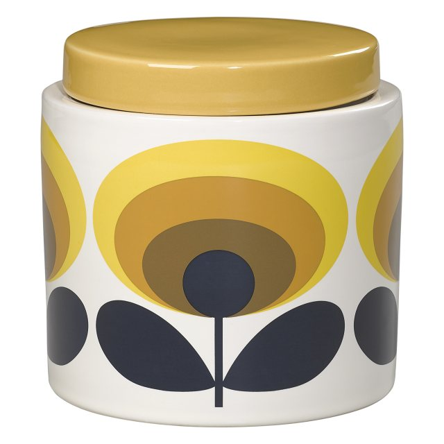 Orla Kiely Orla Kiely 70's Oval Yellow Storage Jar