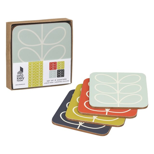 Orla Kiely Orla Kiely Linear Stem Coaster Set of 4