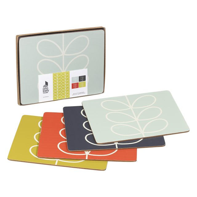 Orla Kiely Orla Kiely Linear Stem Placemat Set