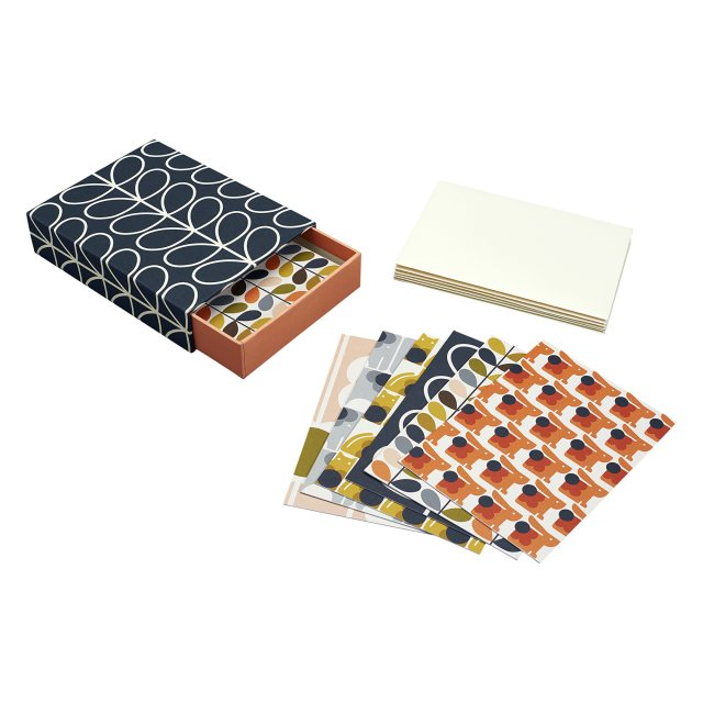 Orla Kiely Orla Kiely Postcard Set With Envelopes