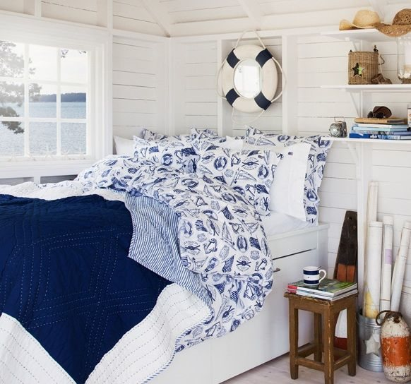 Lexington Lexington Seaside Collection Navy Blue Single Bedding Set