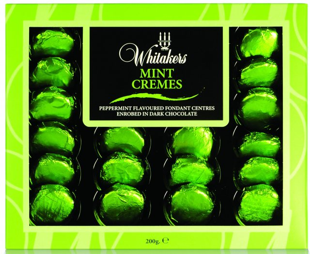 Whitakers Foiled Dark Chocolate Mint Cremes
