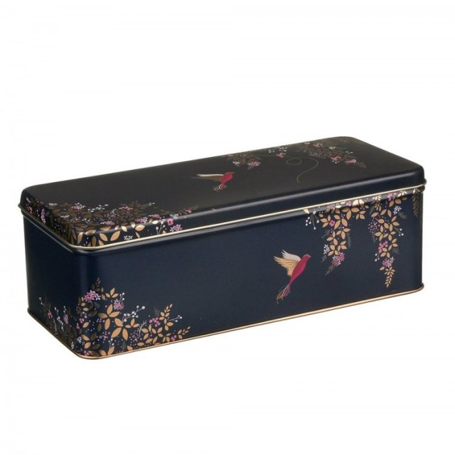 Sara Miller London Sara Miller Long Deep Rectangular Birds Tin