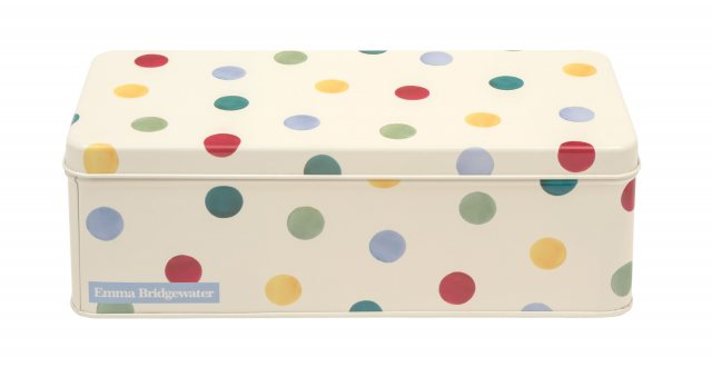 Emma Bridgewater Emma Bridgewater Polka Dot Long Deep Rectangular Storage Tin